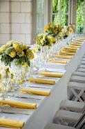 long table flowers